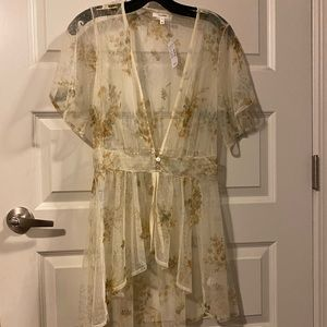 Sheer high-low cover up